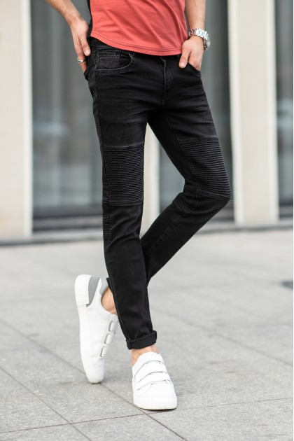 REBEL Black Skinny Jeans