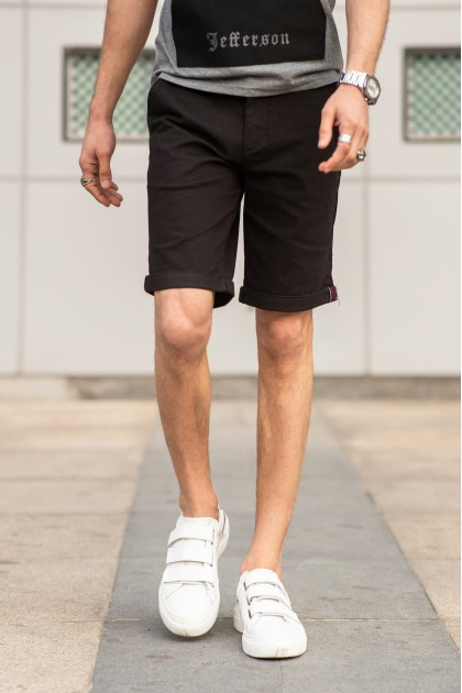 Gerome Black Shorts