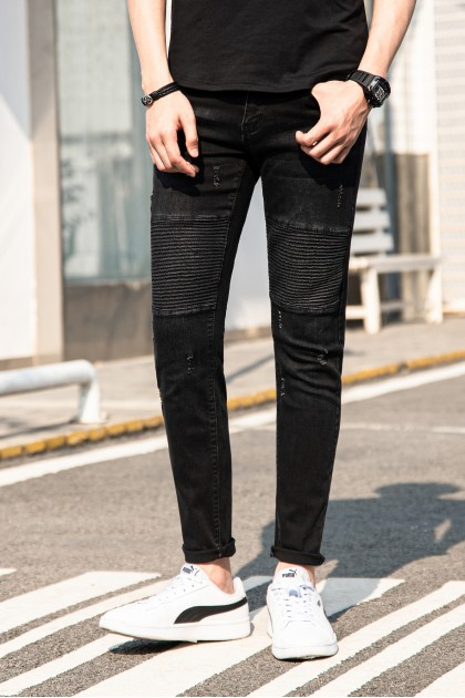 Rebel Black Skinny Denim