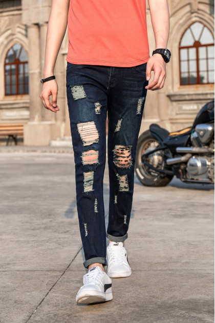 Sailor Skinny Ripped Jeans