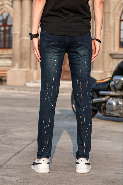 Splash Raindrops Skinny Jeans