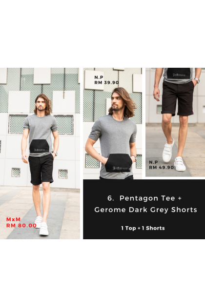 [MxM] Pentagon & Gerome Black Shorts