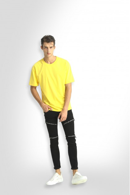 Lemon Yellow Oversize Plain Tee