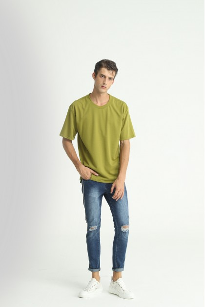 Army Green Oversize Plain Tee