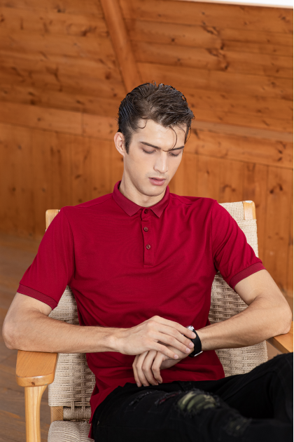 Classic Berry Red Polo